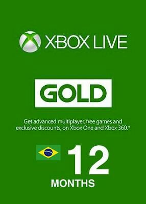 xbox live gold 12 months xbox one / xbox 360 Digital Code - Brazil Country