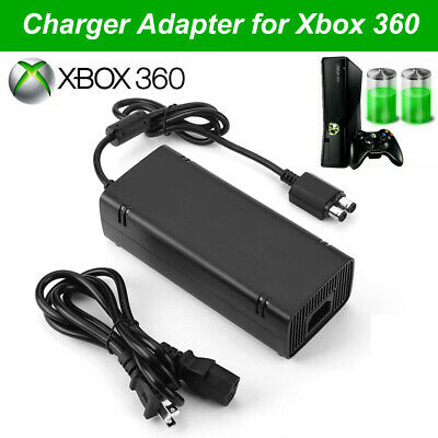 For Microsoft XBOX 360 Slim New AC Adapter Brick Charger Power Supply Cord Cable