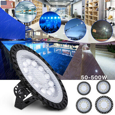 50//100//200//300//500W UFO LED High Bay Light Ultra-thin Warehouse Replacement Lamp
