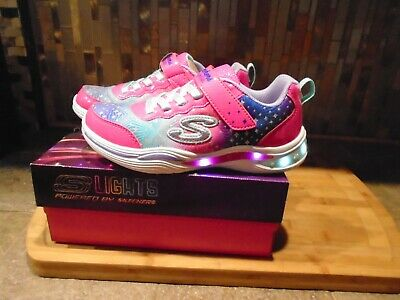 New Skechers 81929L//NPMT Sport Squad  Neon Pink Girl/'s Kid/'s Shoes