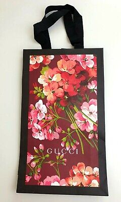 Original Gucci Small Narrow Paper Carrier Gift Bag Flower Pattern 29/17/6 cm New
