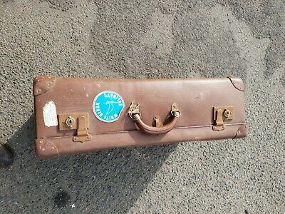 Vintage Large Globetrotter Suitcase Brown 60x39x22 Great for Prop or Display