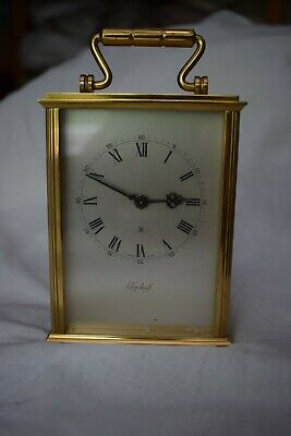 Imhof brass carriage clock - 8 day mechanical manual wind
