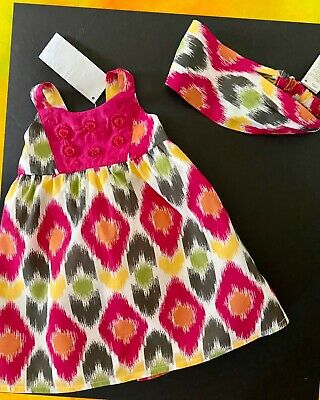 NWT Baby Girls Gymboree Pool Party Dress Size 3-6 Months Yellow Summer 2 pc Set