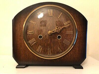 Vintage Smiths Westminster Chiming Mantle Clock With Key Not Working