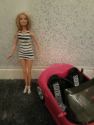 Mattel Barbie Doll & Convertible Pink Car Play Set and dolls