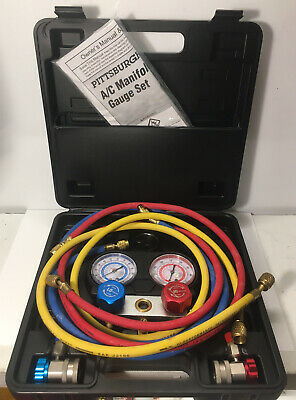 Pittsburgh Automotive R-134A A/C Manifold gauge Set With Case And Manual