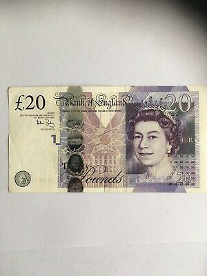 £20 Banknote, Andrew Bailey, LL Replacement Note.