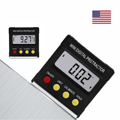Digital LCD Inclinometer Level Box Protractor Angle Finder Bevel Gauge Magnetic