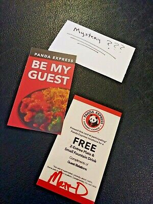 (1) Panda Express 2-Entree Plate & Drink+1 Mystery Combo Meal Voucher