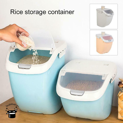 Moisture-proof Flip Cover Rice Storage Box Kitchens Wear Modern Styles Container
