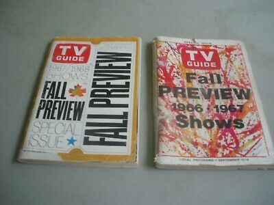 tv guide fall preview 1966-1967,  1967-1968