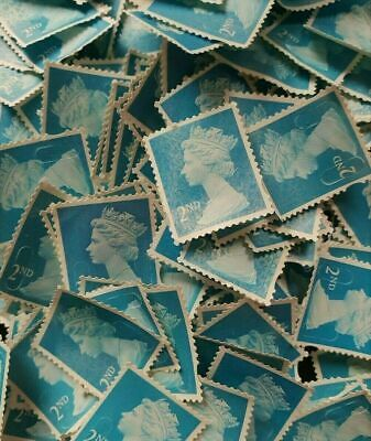 50 2nd Class stamps / 50 Second Class stamps unfranked no gum off Paper