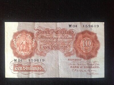 Series A, Britannia Issue Ten Shilling Banknotes,Used condition