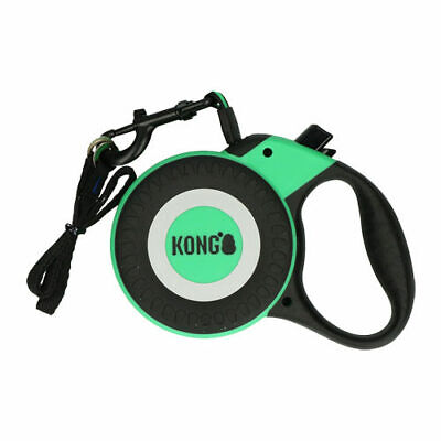 KONG Reflect Retractable Dog Leash Neon Green Size M - 5m up to 30kg