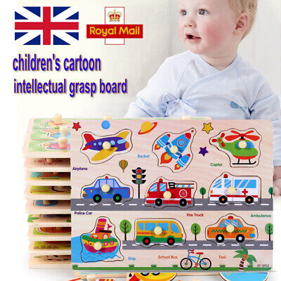 Baby Toddler Jigsaw Kids Puzzle Alphabet Letter Animal Wooden Early Learning Toy