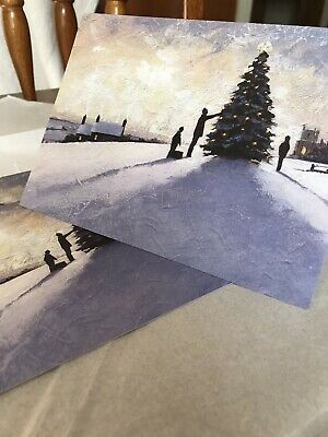 CHRISTMAS Cards National Trust. Three With Envelope - Decorating The Tree