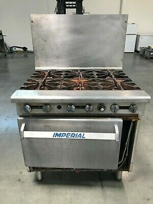 """Used Imperial 36"""" Range With 6 Burners And Standard Oven, Natural Gas"""