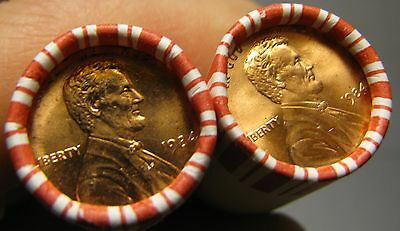 2 Rolls Of 1984 P Obw Lincoln Memorial Cents From Penny Collection