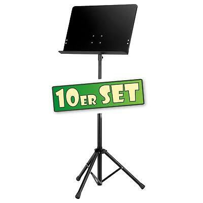 10x Music Stand Heavy Duty Large Adjustable Orchestral Sheet Metal Super Stable