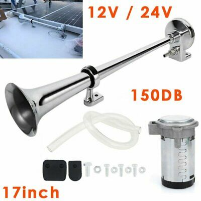 Single Trumpet DC 12V Vehicle Air Horn for Car Truck Boat SUV Train 17inch 150dB