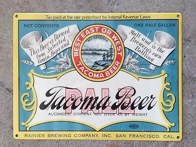 WASHINGTON ~ Old Television Beer STICKER ~ POPULUXE Brewing Company ~ Seattle