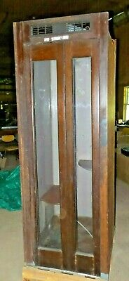 1961 Western Electric Bell System Wood Mahogany Telephone Phone Booth Man Cave +