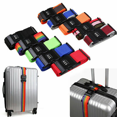 Adjustable Outdoor Travel Luggage Suitcase Strap Baggage Belt Secure Coded Lock