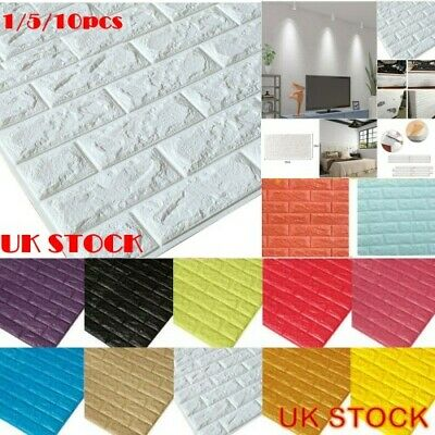 1//5//10X Brick Wall Sticker Panel Thick Soft PE Foam Self Adhesive Wall Cover Pad