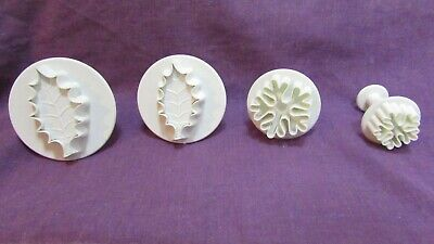 Holly and snowflake cutters plungers bundle