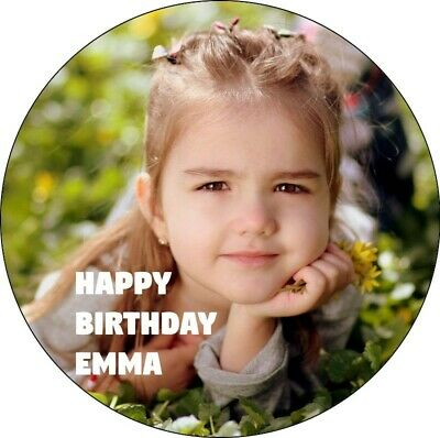YOUR OWN PERSONALISED PHOTO CAKE TOPPER - Sizes Up To 7.5Inches