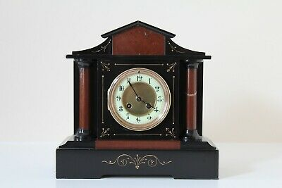 French Slate & Marble Mantel Clock