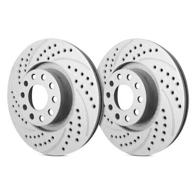 2008-09 Pontiac G8 Brembo ZZP Rear Conversion Cross Drilled Slotted Rotors