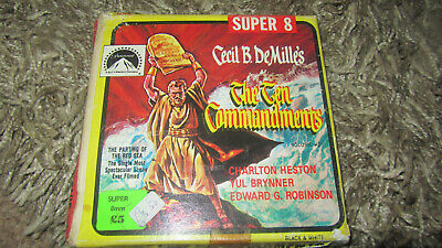 The Ten Commandments Super 8 B/W Silent 200Ft Cine Film 8Mm Cecil B Demilles