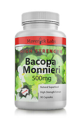 BACOPA Monnieri Capsules (Vegan) HIGHEST Quality 20% Bacosides 10,000mg extract!