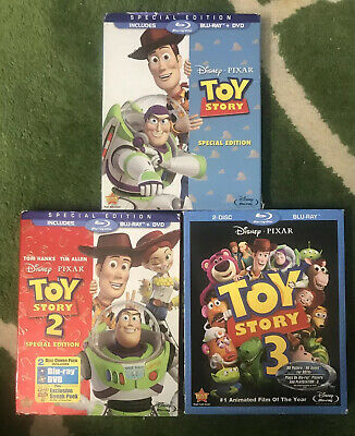 Toy Story Lot 1-2-3  (Blu-ray/DVD, Bundle . Great collection Special Edition