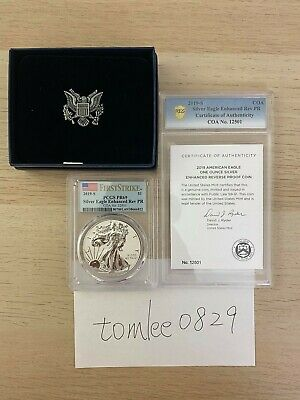 American Eagle 2019 One Ounce Silver Enhanced Reverse Proof Coin PR69