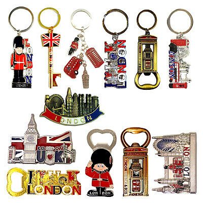 12 London magnets keyrings Union Jack British souvenirs keychain fridge magnet