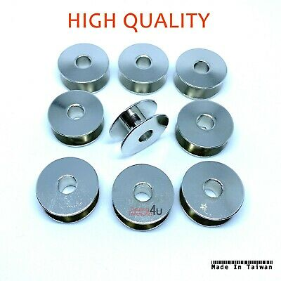 10 X INDUSTRIAL SEWING MACHINE BOBBINS. WITH HOLES 95k B ROTHER,JUKI  sp//47