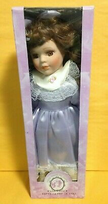 Genuine Porcelain Doll Olive Dress with Lace Classical Treasures Collection