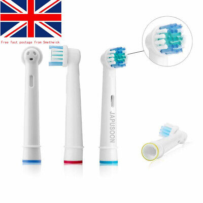For oral b pro600 braun cross action replacement electric toothbrush heads 4pcs