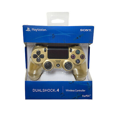 PlayStation PS4 DualShock Wireless Controller Sony GOLD FACTORY SEALED BOX