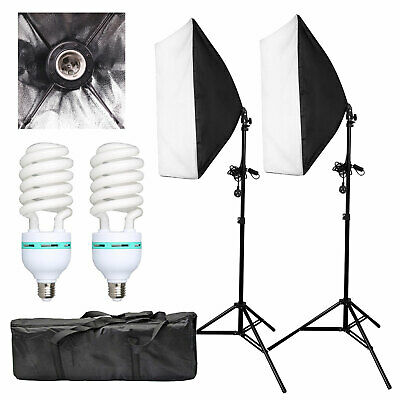 1350W Photography Studio Softbox Continuous Lighting Soft Box Light Stand Kit UK