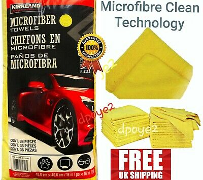Kirkland Signature Ultra Plush Microfibre Towels XL 40cm Microfiber Clean UK
