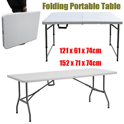 Heavy Duty Folding Table Portable Plastic Camping Garden Party Catering Bbq Tool