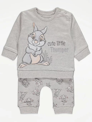 Disney Baby Boys Girls Unisex Bambi Thumper Top and Joggers Outfit 0-24 Months