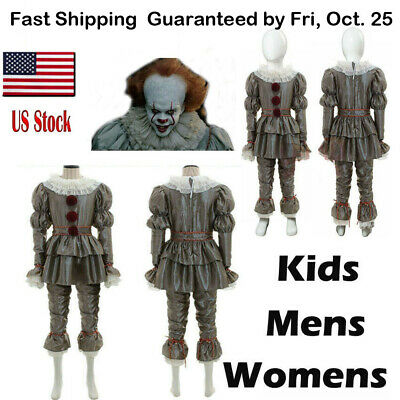 Movie It Chapter Two Pennywise Cosplay Costume Men Kid Clown Hallowen Costumes
