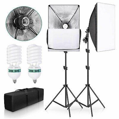 Photography Studio 2x135W Softbox Continuous Video Lighting Soft Box Stand Kit
