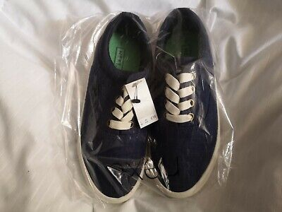 Clarks /'In Play Boys Blue Combi Laced Football//Casual Trainers H Fit