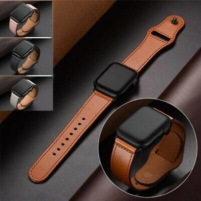 Genuine Leather Apple Watch Band For iWatch Series 5 4 3 2 1 38mm/40mm 42mm/44mm